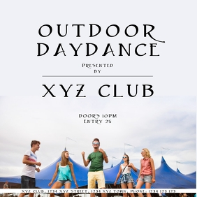 Outdoor Daydance instagram Template Advert