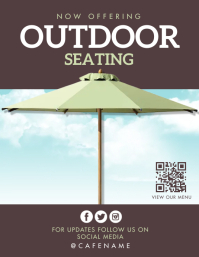 Outdoor dining Flyer (US-Letter) template