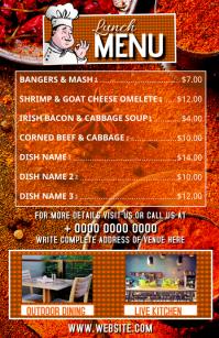 Outdoor Dining Restaurant Menu Flyer Template Tabloid