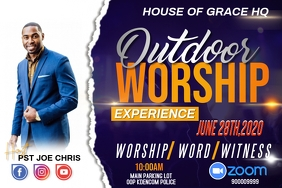 OUTDOOR WORSHIP EXPERIENCE Póster template