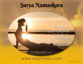 outdoor yoga meditation video poster design Pamflet (VSA Brief) template