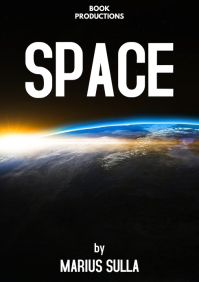 Outer space Book cover scifi space A4 template