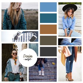 Outfit Fashion Color Instagram Template