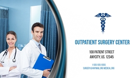 Outpatient Surgery Center Business Card