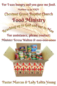 Outreach Ministry Flyer