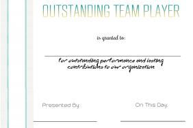 Outstanding Team Player Award