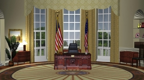 Oval Office - Zoom Background Templates Presentation (16:9)
