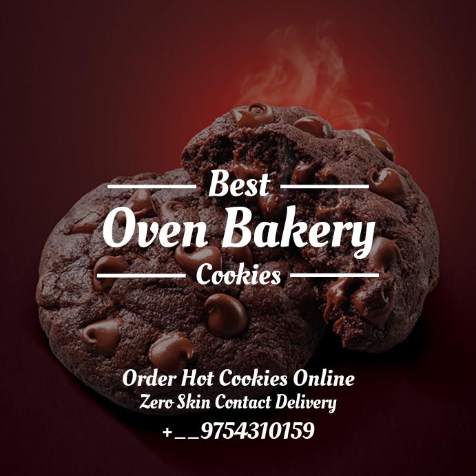 Oven Cookies Order Template Vierkant (1:1)