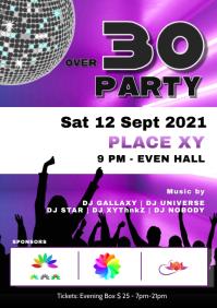 Over 30 40 Party Disco Club Event Motto Bar