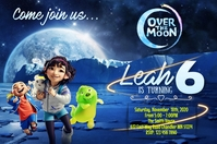 Over the moon Banner 4 × 6 Fuß template