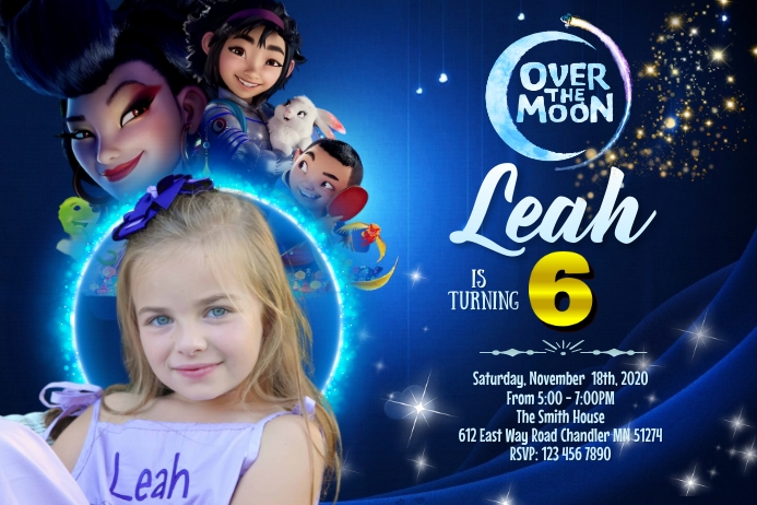 Over the moon Banner 4' × 6' template
