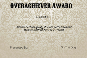 Overachiever Award
