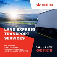 overland trucking transportation services Publicação no Instagram template