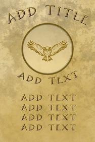 owl logo, bird of prey, raptor flying