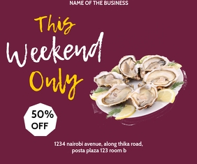 OYSTER FLYER Medium Rectangle template