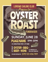 Oyster Roast Flyer template