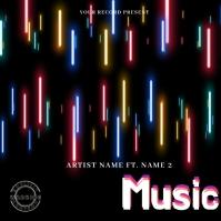 P'music Mixtape/Album Cover Art template