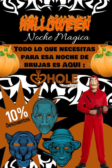 Póster para halloween Poster template