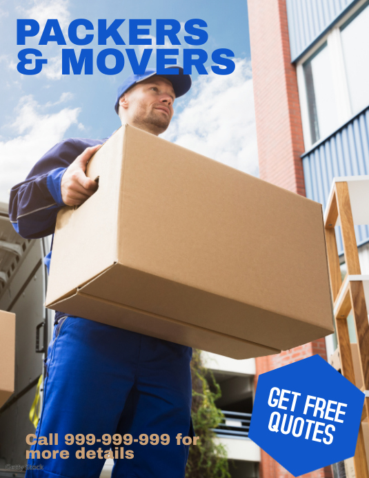 Packers & Movers Flyer (Letter pang-US) template