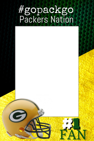 Packers Football Photo Prop Frame