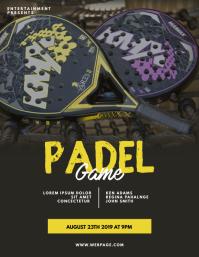 Padel Flyer Design Template