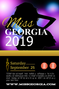 Customizable Design Templates For Pageant Postermywall