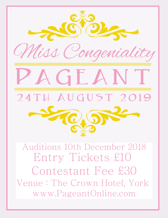 pageant flyer template postermywall