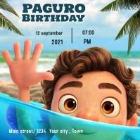 paguro luca birthday party digital display Instagram Post template
