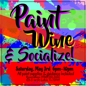 Paint, Wine, Socialize Flyer