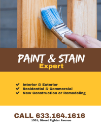 Paint & Stain Expert Flyer Poster Template