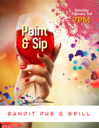 Paint and Sip Drink and Draw Painting Party