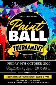 Paint Ball Tournament Poster