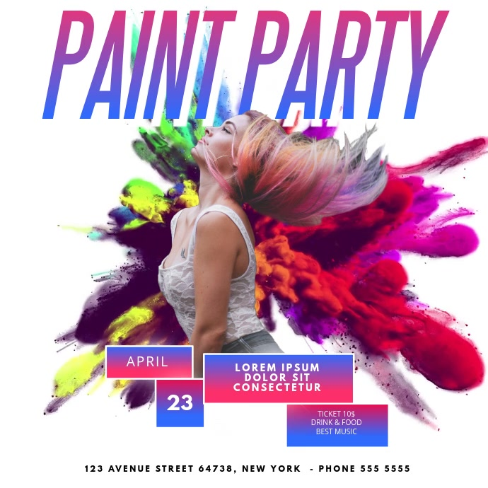 paint Color Party Video Advertising template for instagram