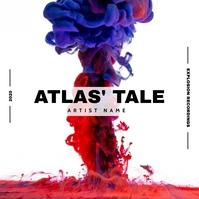 paint explosion music album cover Albumcover template
