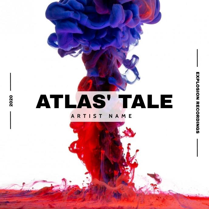 paint explosion music album cover Albumhoes template