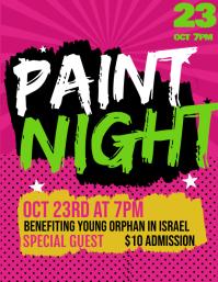 Paint Night Club Event Modern Flyer