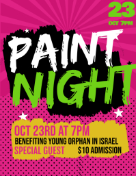 Paint Night Club Event Modern Flyer template