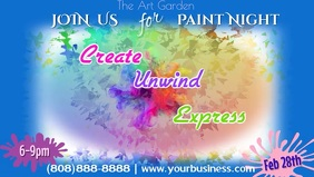 Paint Night FB Cover Video