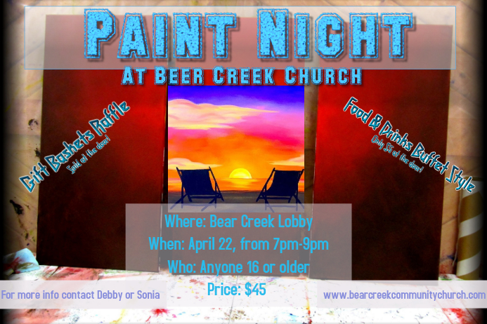 paint night flyer template postermywall
