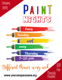 Paint Night Flyer Template