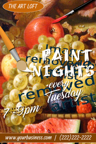 Paint Night Poster Template