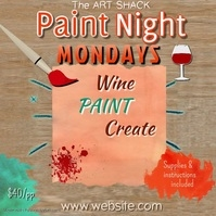 Paint Night Template