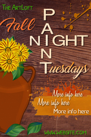 Paint Night Tuesdays Poster