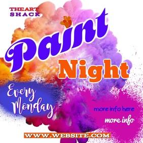 Paint Night Video Cuadrado (1:1) template