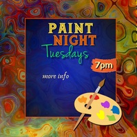 Paint Night Video Quadrat (1:1) template