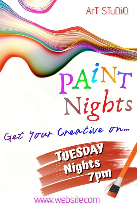 Paint Nights Cartaz template