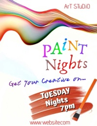 Paint Nights Digital Ad Pamflet (VSA Brief) template