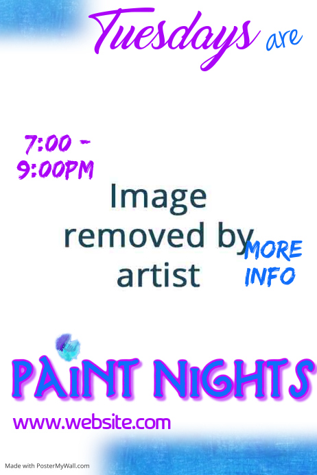 Paint Nights Poster Template