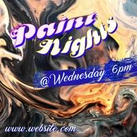 Paint Nights Video Quadrado (1:1) template