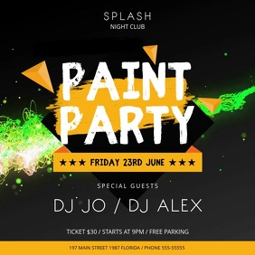 Paint Party Club Event Square Video template